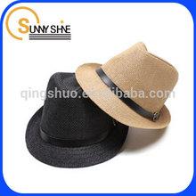 Sunny Shine fashion Panama paper wholesale knit straw Fedora Hat