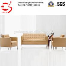 italy leather sofa/ leather sectional sofa/ office sofa
