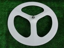 New version bike parts white tri spoke wheel,bicycle carbon wheelset
