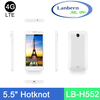 OEM New product Hotknot 4g lte fdd Smart Phone Quad core GMS License 5.5inch long talk time battery mobile phone LB-H552