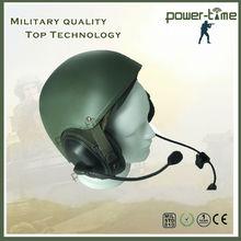 Military german motorcycle helmet with flexible dynamic microphone PTE-746
