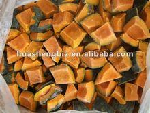 Fresh frozen pumpkin cut
