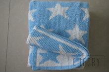 pure cotton /bamboo fiber /organic cotton jacquard woven baby blanket