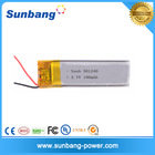 LP602020 /501240 deep cycle rechargeable lithium battery polymere 3.7v 180mah