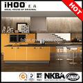mutfak dolap parlak sarı mutfak dolabı foshan
