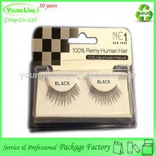 Custom Beautiful plastic PVC false eyelash package with a cardboard