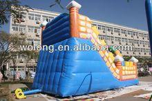 Inflatable slide combo, toboggan slide