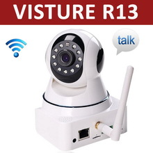 Visture R13 IP camera wooden bases for baby monitor IR cut 3.6mm lens CMOS 1.3MP Support monitoring via phone online