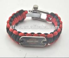 2015 school team paracord bracelet