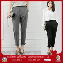 custom suiting fabric long harem pants