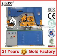 High Efficiency iron steel bar cutting machine,hydraulic angle iron cutter,steel bar folding machine