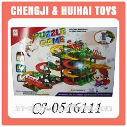 Wholesale education building block toy orbit train