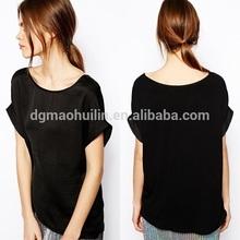 oem mulheres moda china projeto de fabricação de senhoras camisa de cetim
