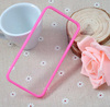 For Apple 5 transparent mirror with dust plug , PC+TPU case for iphone 5/5c