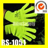RILIN SAFETY fashion but cheap gloves ,led gloves with EN388 EN 420 CE CERTIFICATE