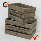 solid vintage french cheap wooden fruit crates for sale