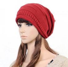 Brand 2014 New Women's Cotton Hip Hop Ring Warm Beanie Cap Winter Women Knitted Hat