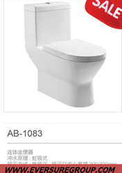 Colorful one piece p trap and s trap wc toilet and water closet