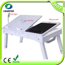 NBT-69B Plastic Folding Laptop Table With Cooling pad Foam Wrist Rest