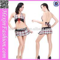 wholesale sexy bra and short skirt adult sexy costume sex school girl uniform