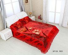 100% polyester China product 3 pcs bed sets\sheet\blanket\pillows