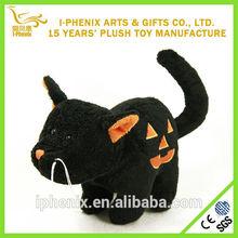 Unique Design Low Price Customized Black Cat Plush Toy Halloween Decoration Gift