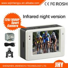 Digital Video Camera AT83 Sports DVR Helmet Waterproof 30m Sport hd mini DV with 4 Night Vision LED