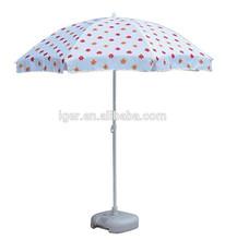 beach umbrella white dot