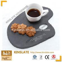irregular black slate plate cake&cookies slate plate