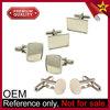 Silver Plated Custom Shaped Wholesale Cufflink Blanks