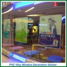 Window Transparent Sticker PVC Viny Adhesive Window Decoration Decals