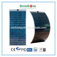ETFE film Semi Flexible Poly Solar Panel 130W