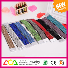 Wholesale korea velvet Wide bracelet diamond Jewelry magnetic buckle bracelet