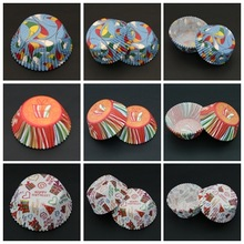 Pretty Paper Mother's Day Disposable Greaseproof Muffin Cups Cupcake Trays