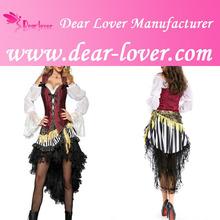 Womens 3 PCS Pirates Treasure Adult Costume