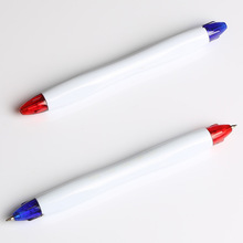 customizing and good price plastic dual ballpoint pen with two colors refills
