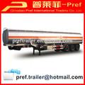 Litros 38000 tri- eje camión cisterna de combustible trailer/de aceroinoxidable de aceite de remolque cisterna para la venta