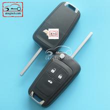 Okeytech 433mhz ID46 chips key car chevrolet remote key with cross LOGO for Chevrolet Cruze key