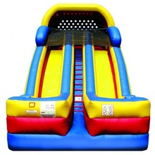 18.5oz pvc material commercial inflatable slide with pool for adult,dolphin inflatable slide for hire,inflatable dry slide