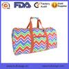 New Design Fancy Ladies Travel Bag Chevron Weekender Bag Wholesale