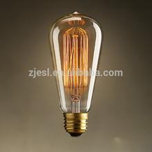 ST58 40W E26 Edison Bulb steeple hairpin Vintage Antique Retro Industrial