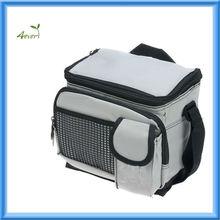 "Durable Deluxe Insulated Lunch Cooler Bag frozen shoulder bag(9"" x 7"" x 8"", Gray)"