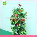 Décoratifs en plastique gros faux arbres vente, soie, arbres et des plantes