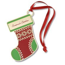 Hot Sale Promotional Paper Stocking Christmas Ornament