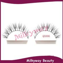 QX006 cluster crossing mink strip lashes siberian mink fur soft faux eyelash