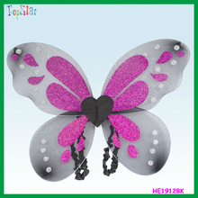 Fashion Hen Party Colorful Glitter Butterfly Wing