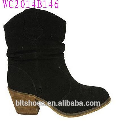 หยาบส้นผู้หญิงรองเท้ารองเท้าชุดคาวบอยboots2014