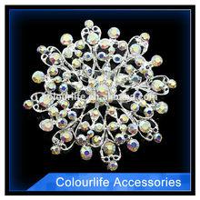 Fashion plain silver brooch useful wedding invitations card