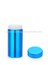 13oz/380ml Blue Chromed/ Metallized Plastic HDPE Bottle
