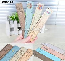 popular wooden box 15cm wooden ruler 15cm fruit series wooden ruler